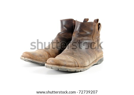 Old men's boots - stock photo