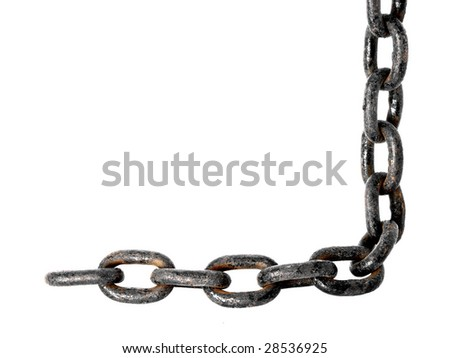 Old metal chain