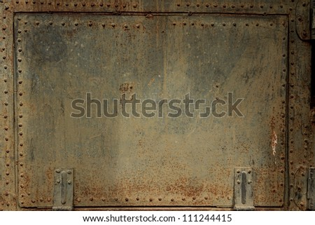 Old metal cover - stock photo