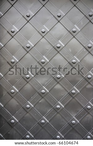 old metal door, background - stock photo