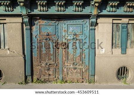 Old metal door in Budapest
