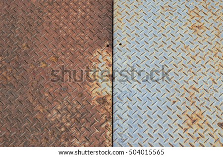 OLD METAL FLOOR TEXTURE BACKGROUND