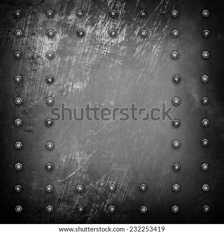 old metal plate  - stock photo