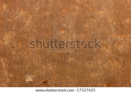 old metal plate damaged by corrosion - stock photo