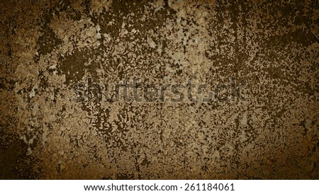 Old metal rusty background with cracked paint. Grunge background with vignette.