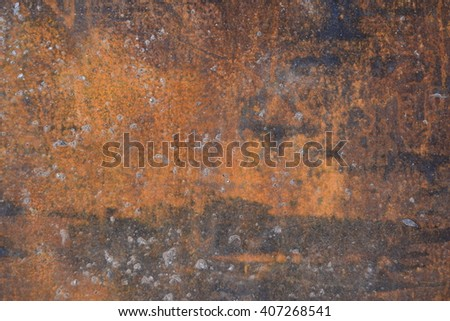 Old metal. Rusty metal product as a thematic background image. - stock photo