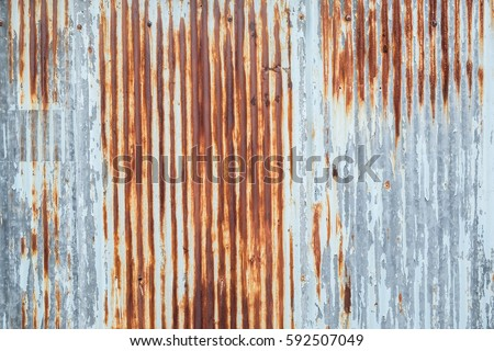Lovely Old Metal Sheet Roof Texture. Pattern Of Old Metal Sheet. Metal Sheet  Texture.