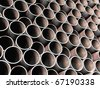 Old metal tube background - stock vector