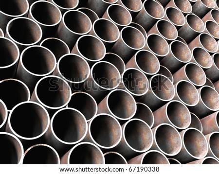 Old metal tube background - stock photo