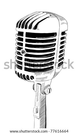 Old Microphone - stock photo