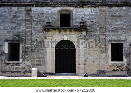 Old Military Chapel in Castillo de San Marcos, St. Augustine, Florida - stock photo