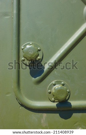Old military tank texture - Russian heavy military armored artillery