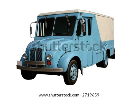 Old Milk Delivery Truck - stock photo