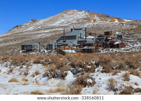 Old mine in Bodie, California, USA. - stock photo