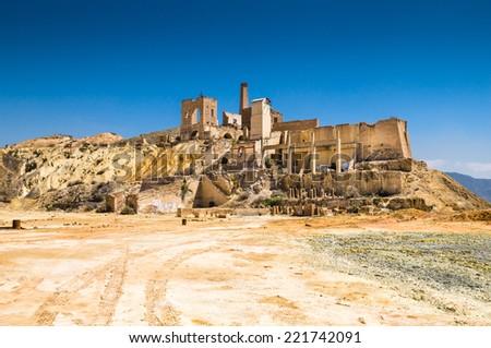 old mine in Mazarron, Murcia, Spain - stock photo