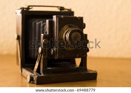 old miniature camera - stock photo