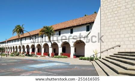 Old Mission, Santa Barbara, California - stock photo