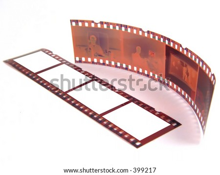 Old 35 mm film-strip as placeholder to put images in (isolated)