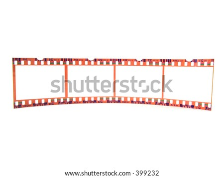 Old 35 mm film-strip as placeholder to put images in (isolated, single strip)