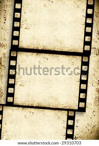 Old 35 mm movie Film reel - stock photo