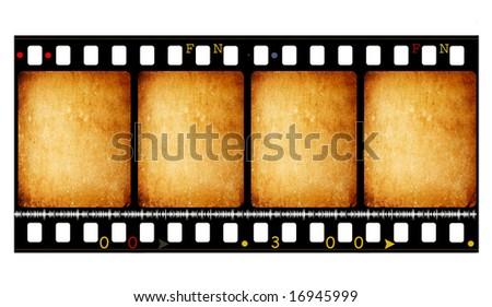 Old 35mm movie Film reel,Digital art - stock photo