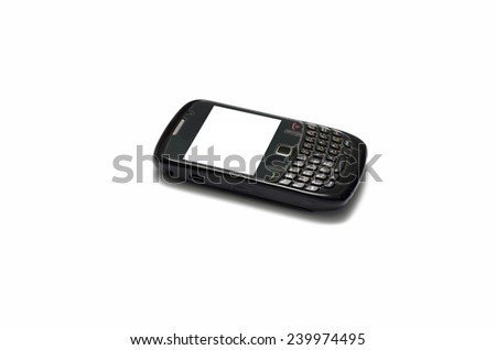 old mobile phone on a white background
