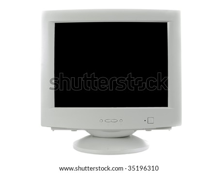 Old monitor ctr - stock photo