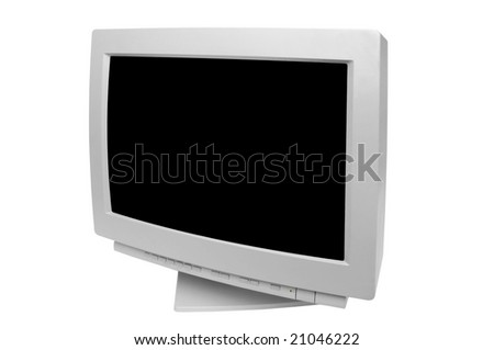 old monitor isolated