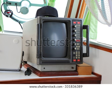 Old monitor ship communications daytime