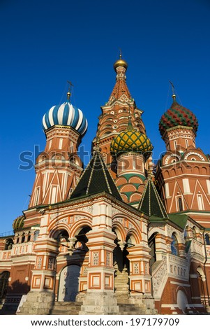 old Moscow Cathedral. St. Basil's Cathedral. Summer Evening, 2014