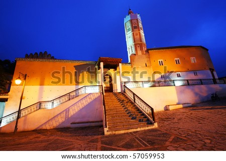Old Mosque in Chefchaouen - stock photo