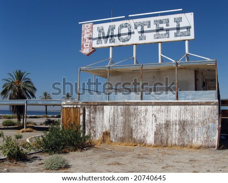 Old Motel on the Salton Sea - stock photo