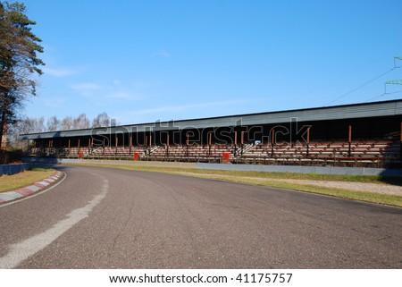 Old motor racing track - stock photo