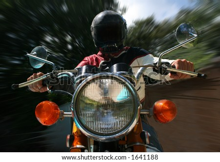 Old Motorcycle - stock photo