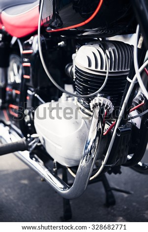 old motorcycle detail