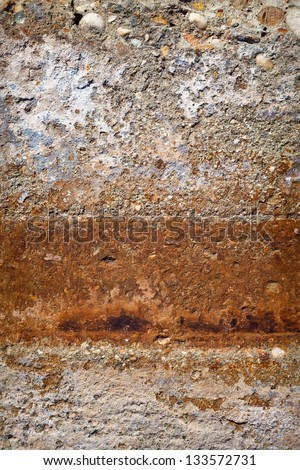 Old multicolor plaster wall detail for Background or Texture - stock photo