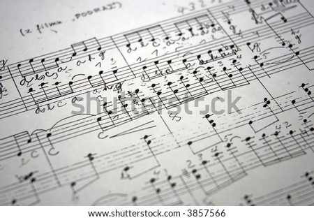 old music - stock photo