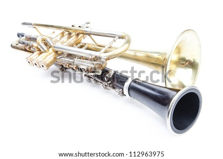 old music instruments - stock photo