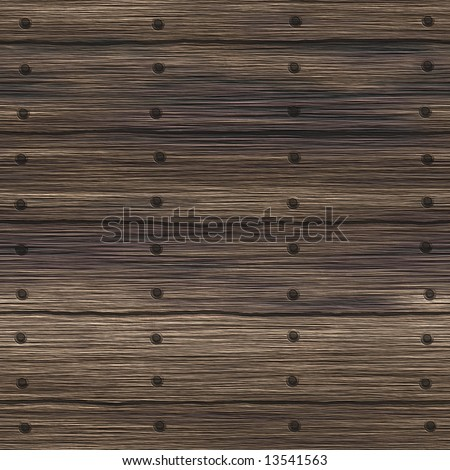 Old nailed wood planks - seamless texture - stock photo