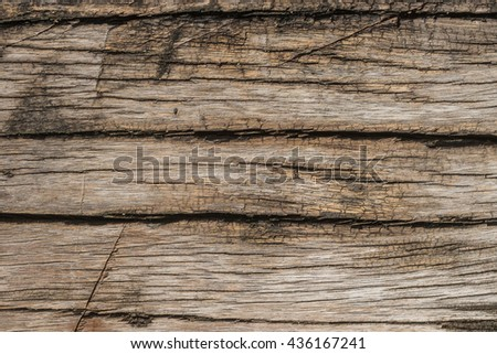 Old natural wooden shabby background close up, old wood background, texture of bark wood use as natural background - stock photo