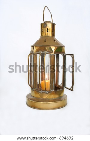 Old nautical lamp - stock photo