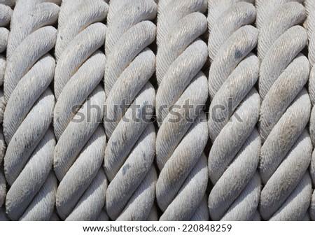 Old nautical rope - stock photo