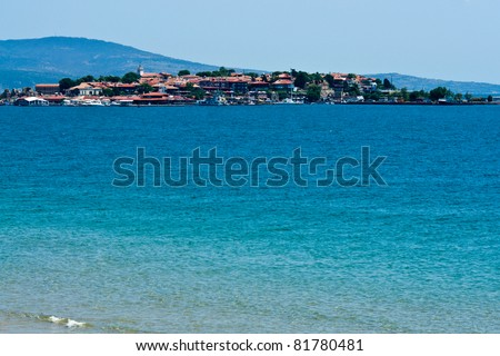 Old Nesebar island - famous resort and Bulgarian unesco heritage site - stock photo