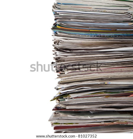 old newspaper - stock photo