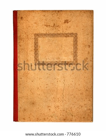 Old notebook cover - stock photo