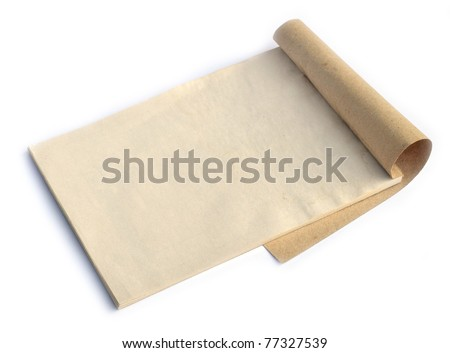 old notebook isolated on white background - stock photo