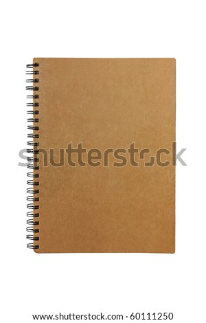 old notebook made from recycle paper - stock photo