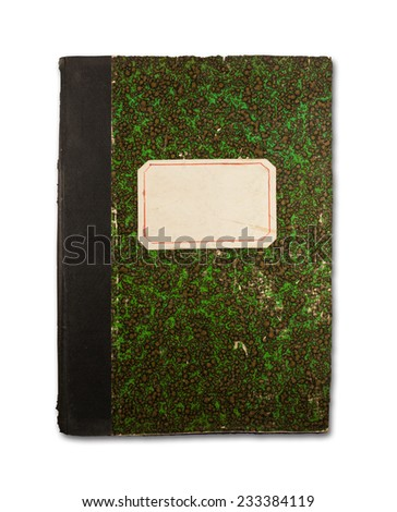 Old notebook's cover - stock photo