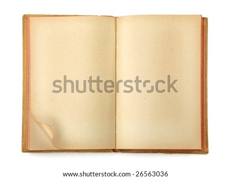 Old notepad isolated on white background - stock photo