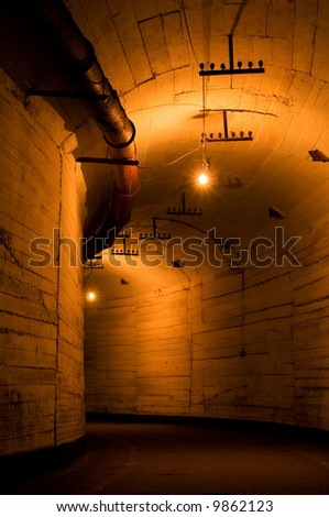 Old nuclear submarine base in Balaklava, Ukraine - stock photo
